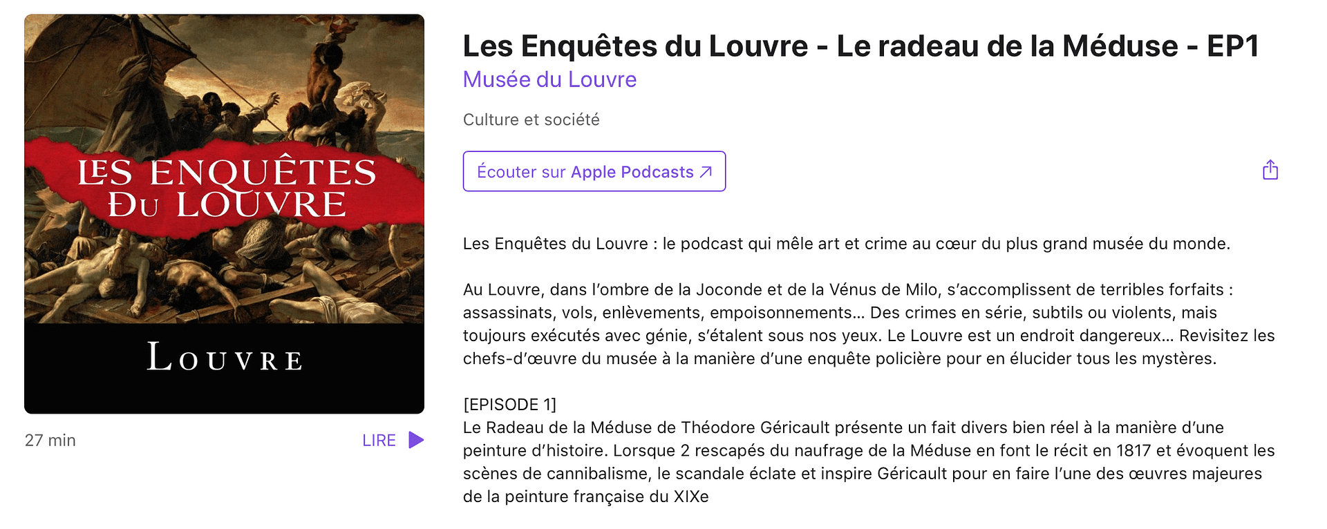 Podcasts de l'été - Le Louvre