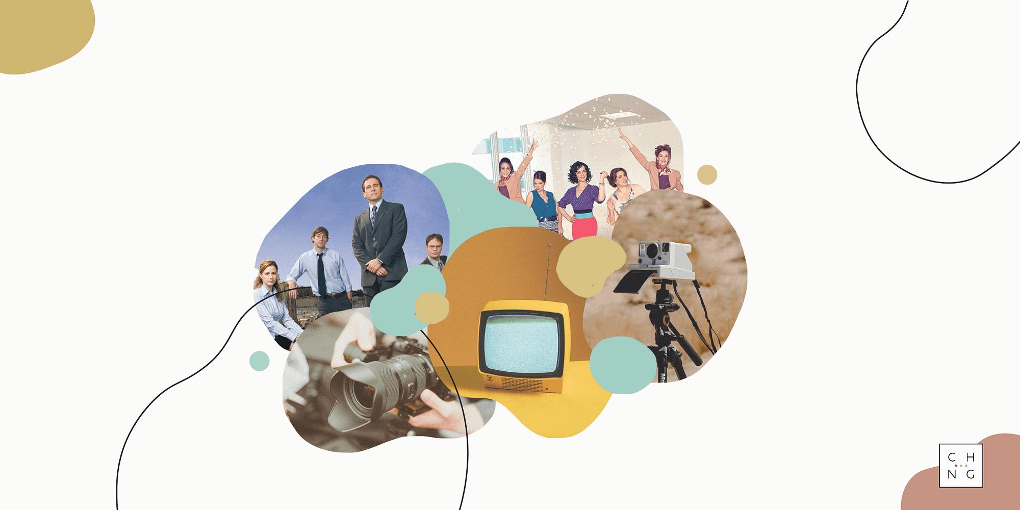 Collage bureau serie télé